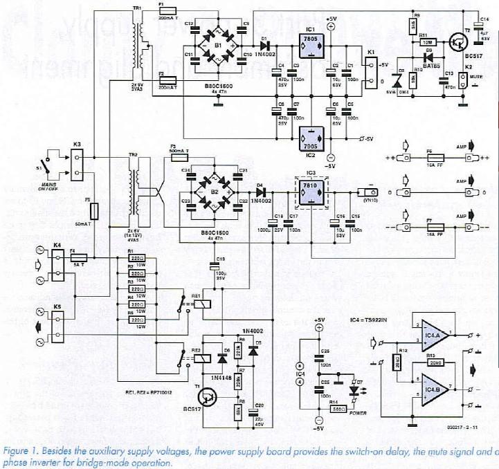 ClariTy 2x300W Class-T Amplifier Part 3: power supply