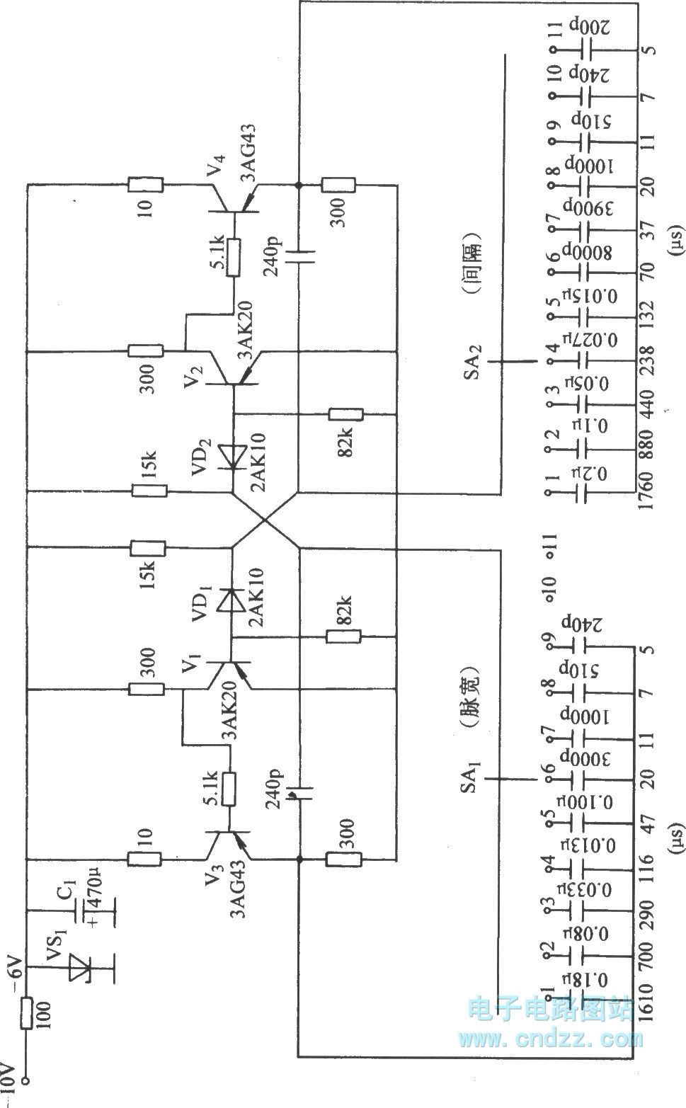 astable circuit with sub