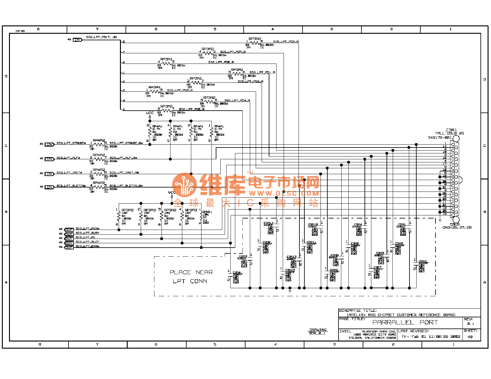845ddr computer motherboard circuit diagram 48 - computer-related circuit
