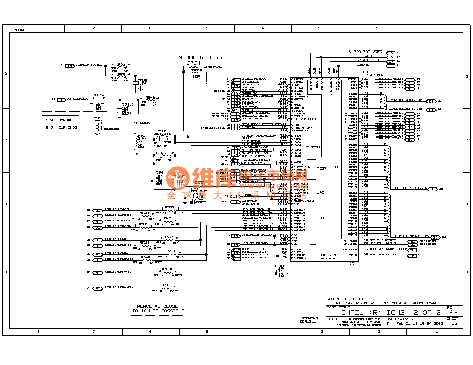 845ddr Computer Motherboard Circuit Diagram 20
