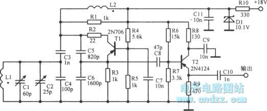 colpitts oscillator with adjustable frequency - oscillator circuit - signal processing