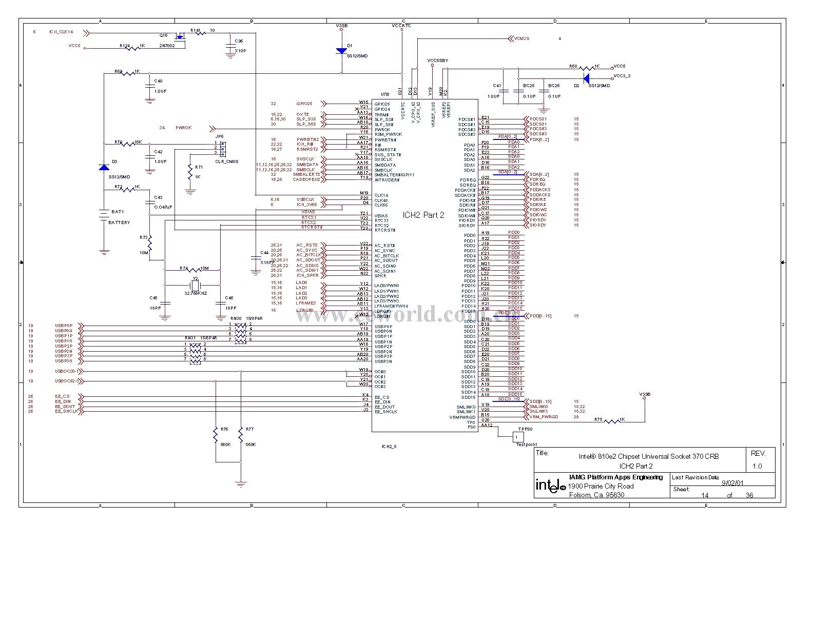 810 computer motherboard circuit diagram 14 - computer-related circuit
