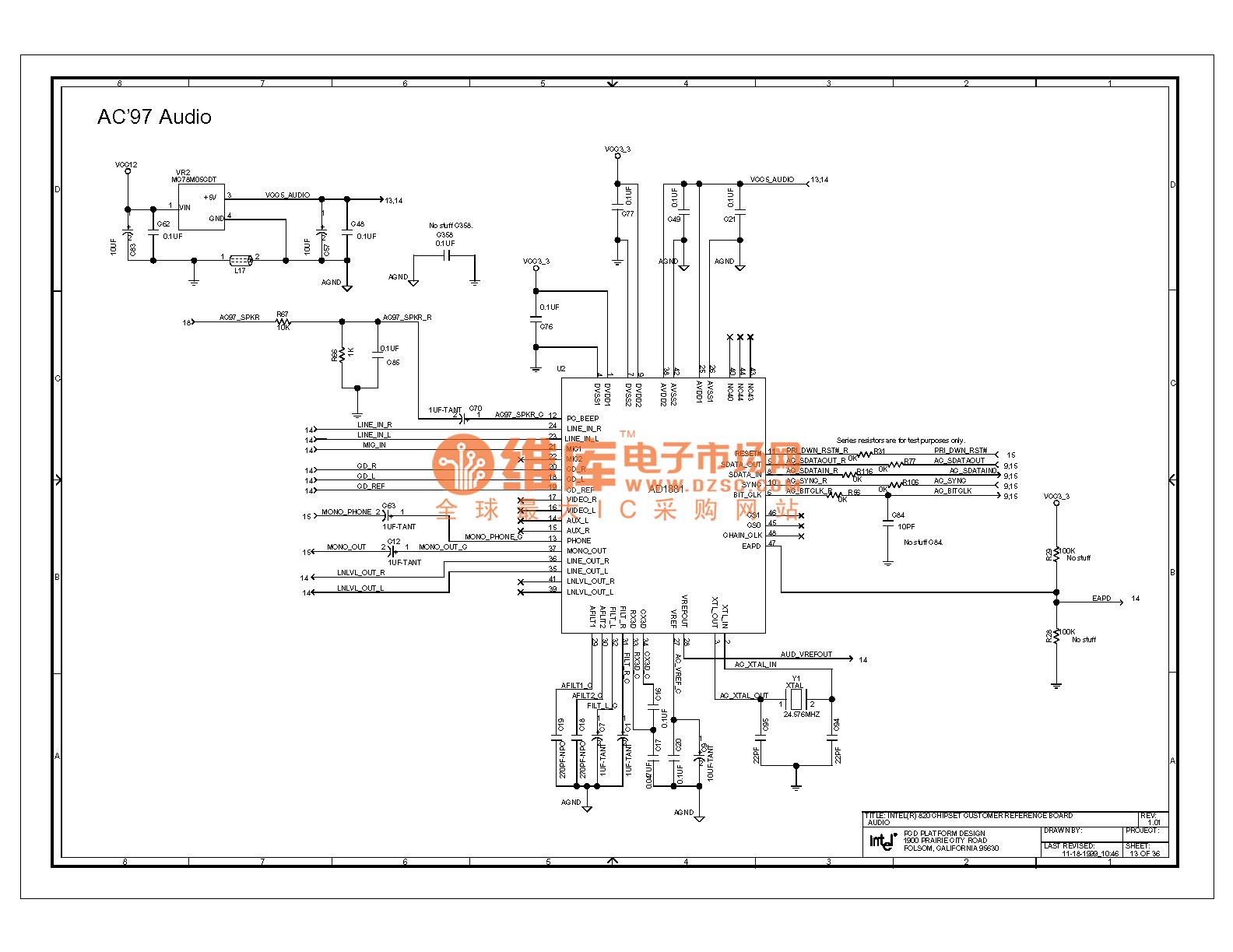 820e computer motherboard circuit diagram 13 - computer-related circuit