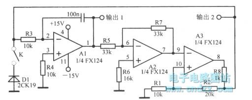 low-frequency oscillator with different waveforms - oscillator circuit