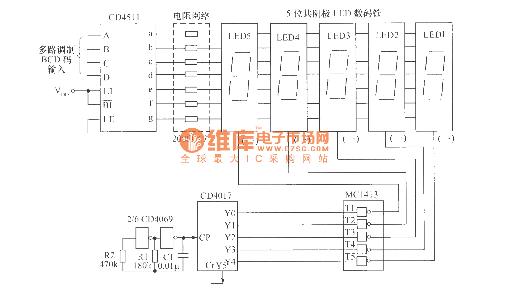 Dynamic Scan Display Circuit Basic Diagram Home Wiring Diagrams Http Wwwseekiccom Circuitdiagram