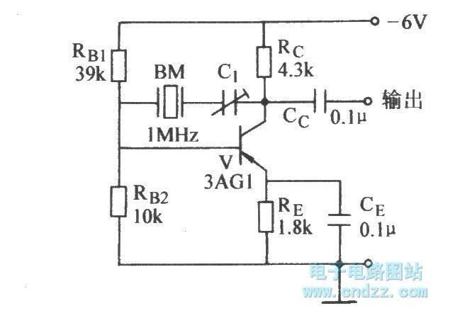 single-tube quartz crystal oscillator - oscillator circuit - signal processing