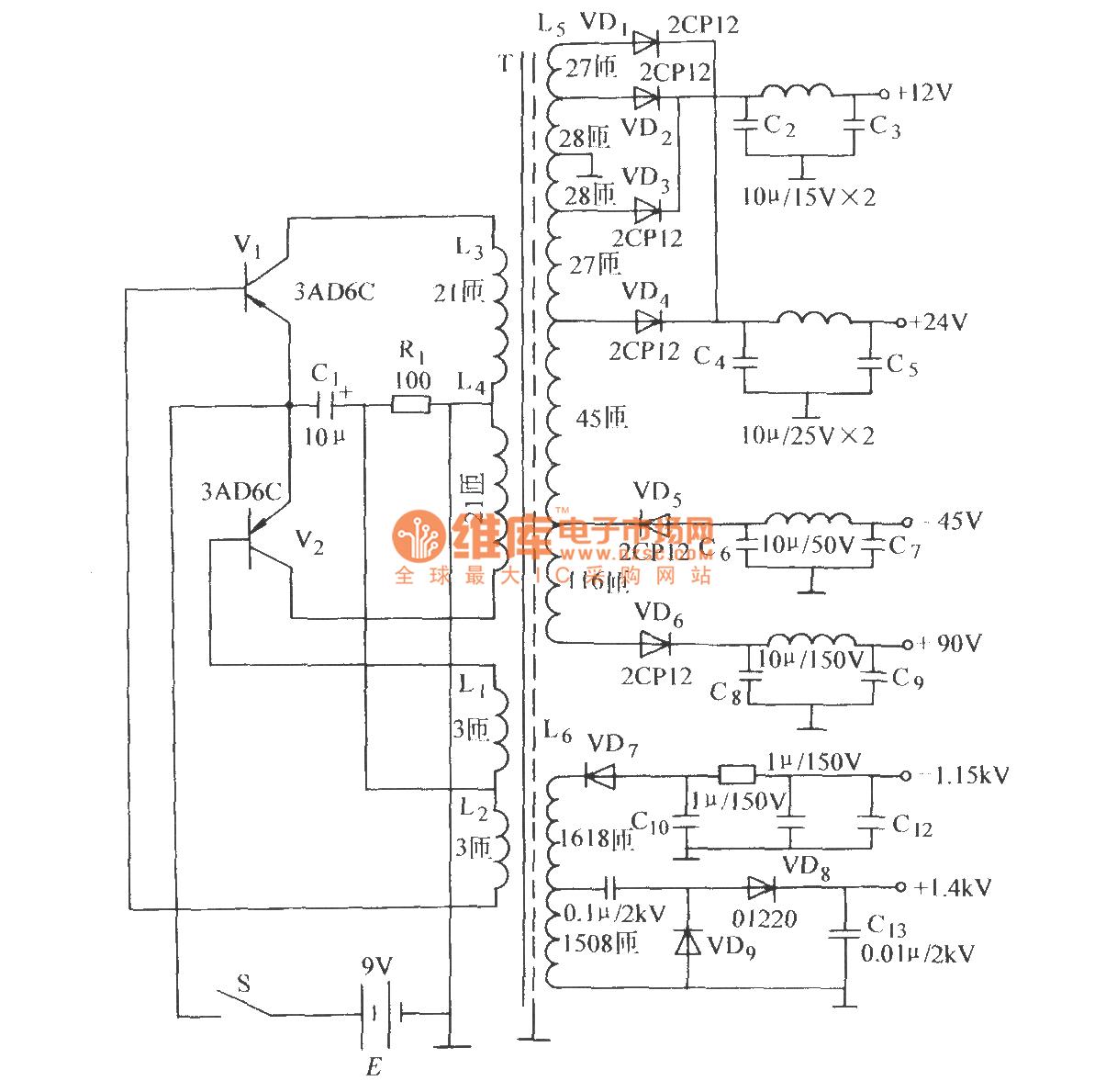 High Frequency Voltage Oscillator Circuit Dc Converter Diagram
