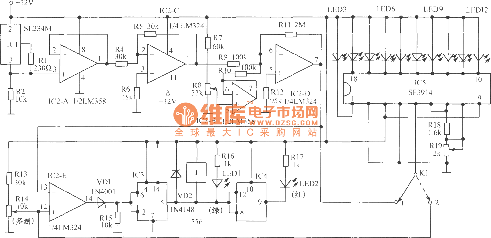 Analog Temperature Controller Circuit Control Telephonerelatedcircuit Electricalequipmentcircuit