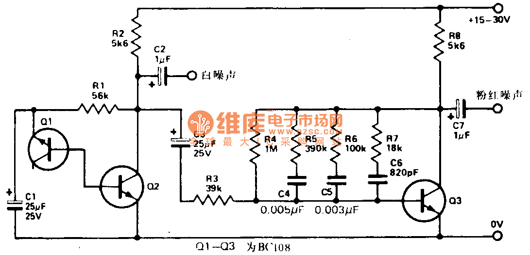 Audio frequency noise generator schematic - Signal_Processing