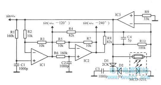 three-phase output oscillator - oscillator circuit - signal processing