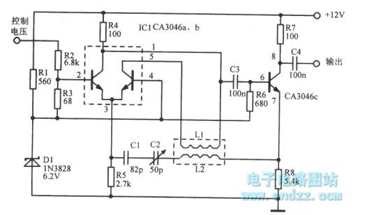 9mhz linear voltage-controlled oscillator