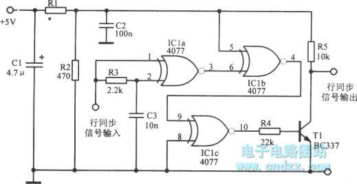 vga sync signal automatic oscillator - oscillator circuit - signal processing