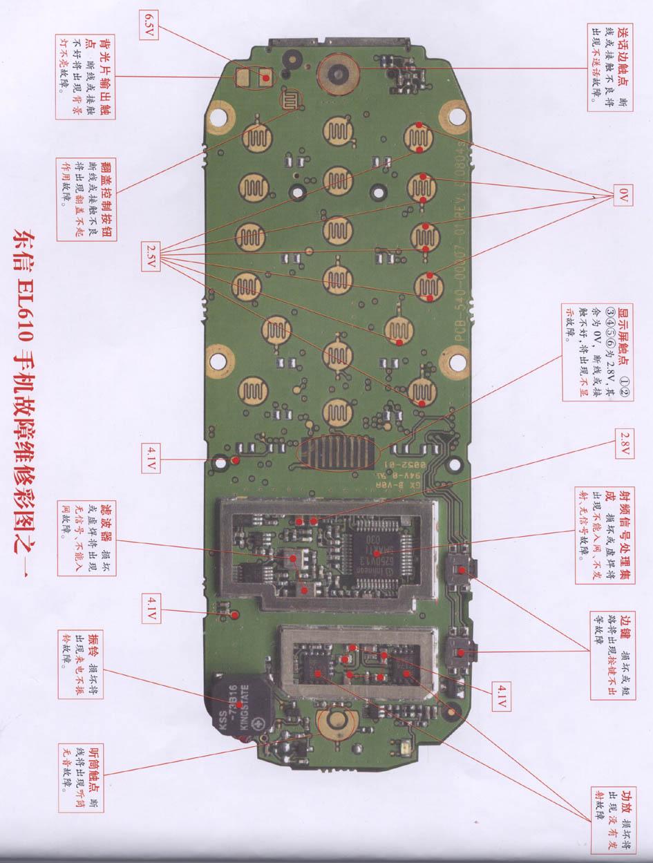 Eastcom El610 Mobile Phone Repairing Diagram 1