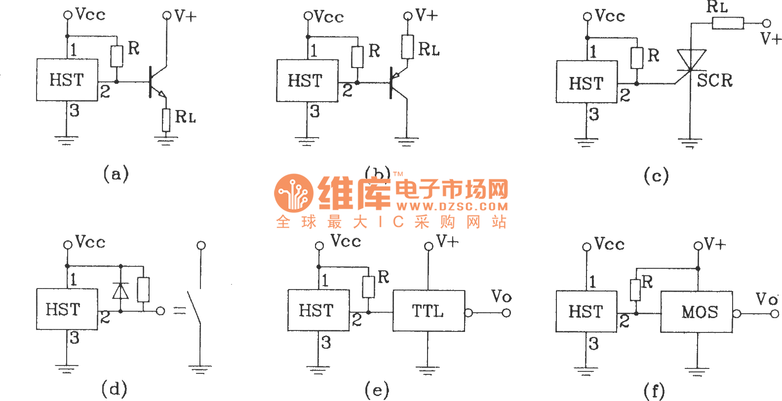 The Common Interface Circuit Of Sh Hall Sensor Basic Basictriaczeropointswitch Electricalequipmentcircuit