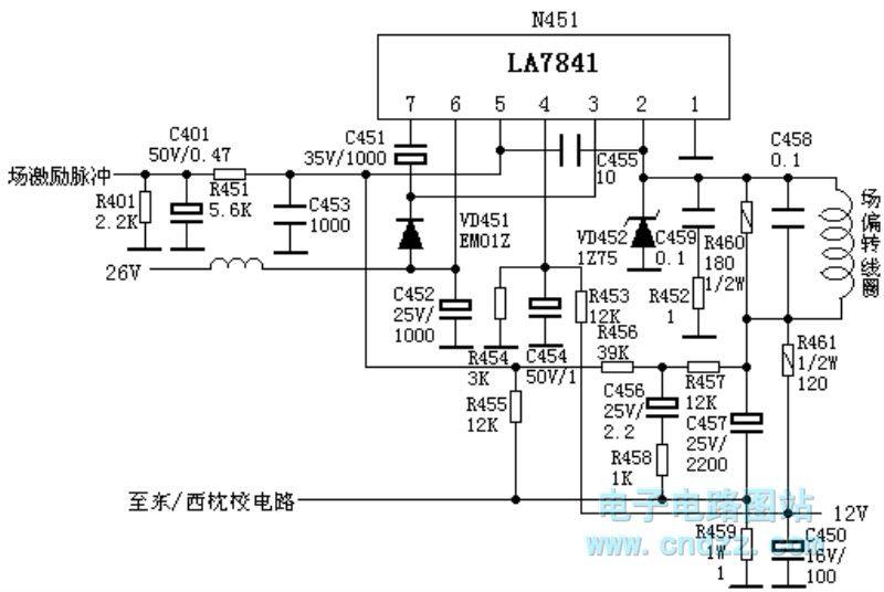 LA7841_Field_output_circuit