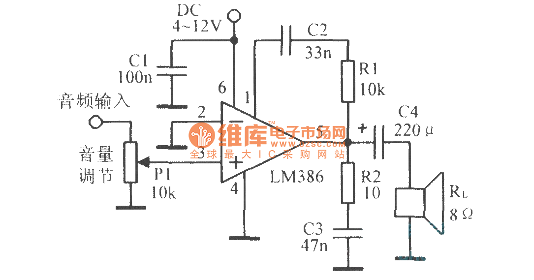 the lm386 typical application circuit basic circuit circuit rh seekic com