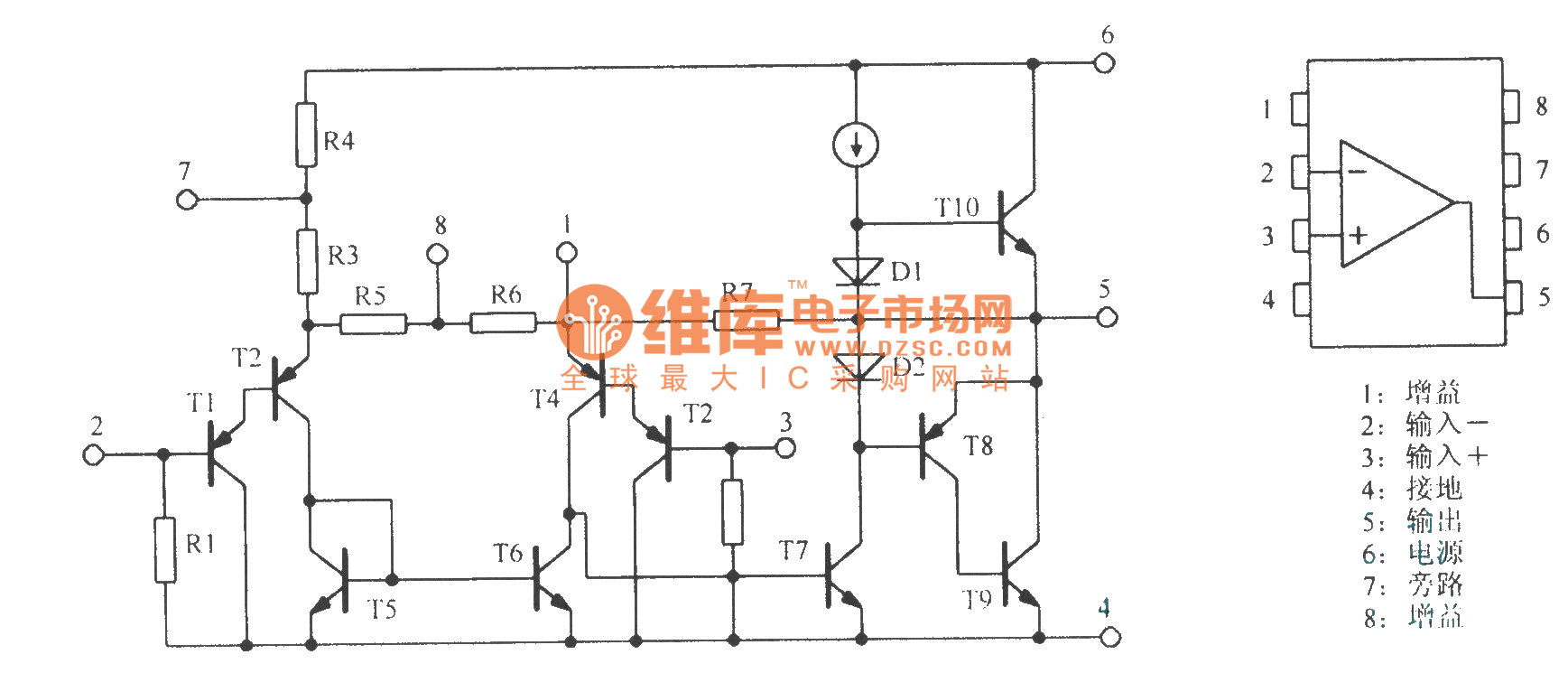 General Equivalent Circuit And Package Of Lm386 Power Amplifier Basic Home Wiring Diagrams Http Wwwseekiccom Circuitdiagram