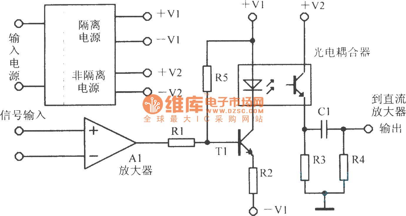 Isolation Amplifier Circuit Diagram Analog Amplifiercircuit The Directly Optical Coupling 1382x737