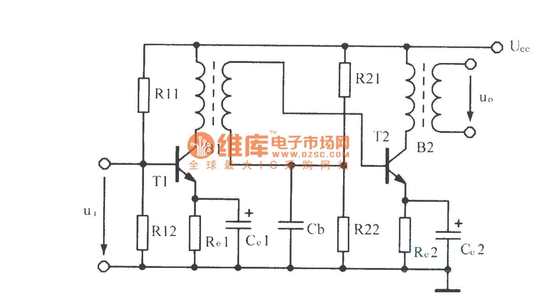 Circuit Diagram Of Transformer Coupled Amplifier Bufferedbreakoutbox Basiccircuit Seekiccom Amplifiercircuit