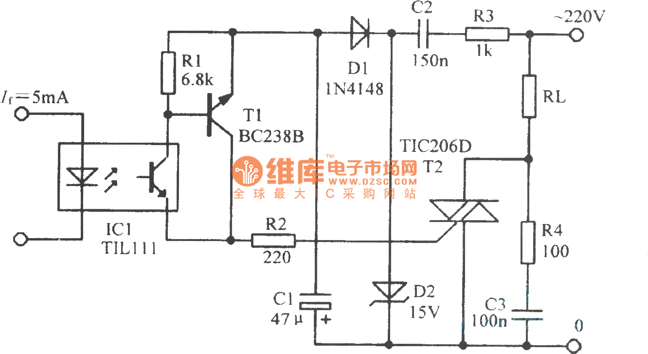 thyristor driving circuit sensorcircuit circuit diagram seekic rh regal wealth co