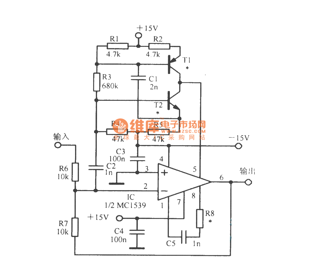 Operational Amplifier Diagram Automotive Wiring Op Amp Pin Broadband Circuit 741