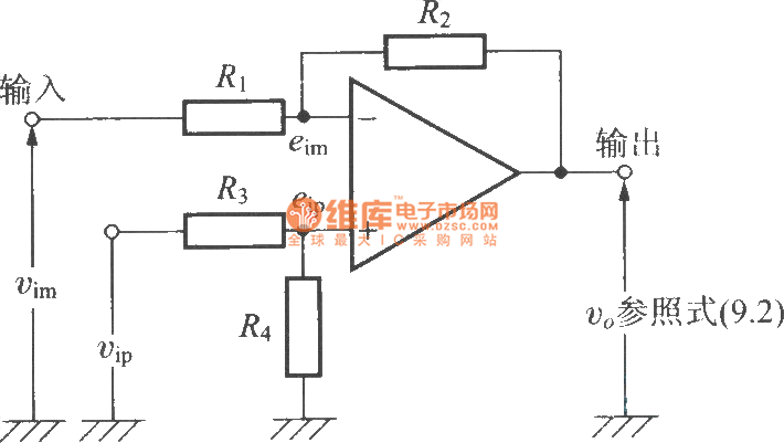 the differential amplifier based on op amp