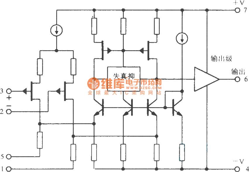 opa604 fet input high fidelity operational lifier circuit amplifier circuit circuit