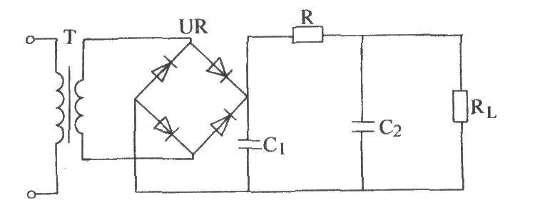 the single-phase bridge rectifier  u03a0 filter circuit - basic circuit - circuit diagram