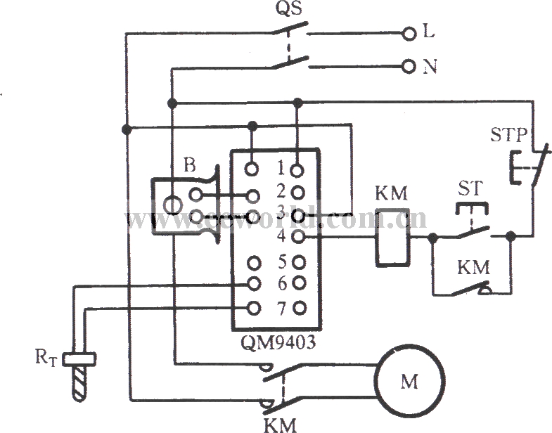 qm9403 single-phase motor protection circuit