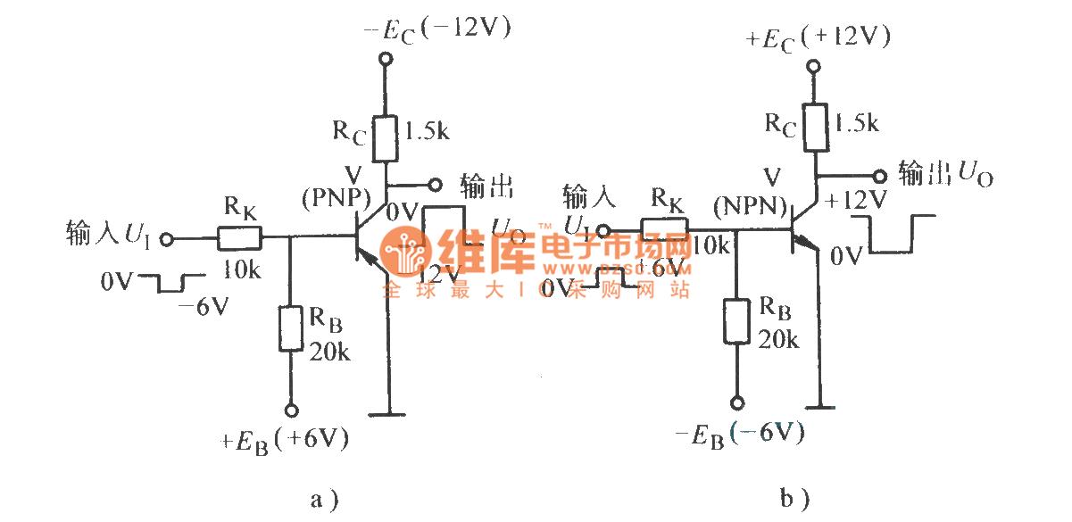 Transistor inverter circuit basic circuit circuit for Transistor inverseur