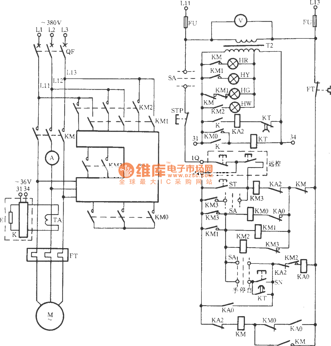 jj2b-5 57 5 variable voltage start-up circuit - basic circuit - circuit diagram