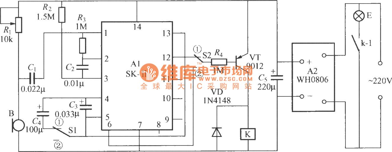 Dual-use sound control light switch circuit (SK-II ...