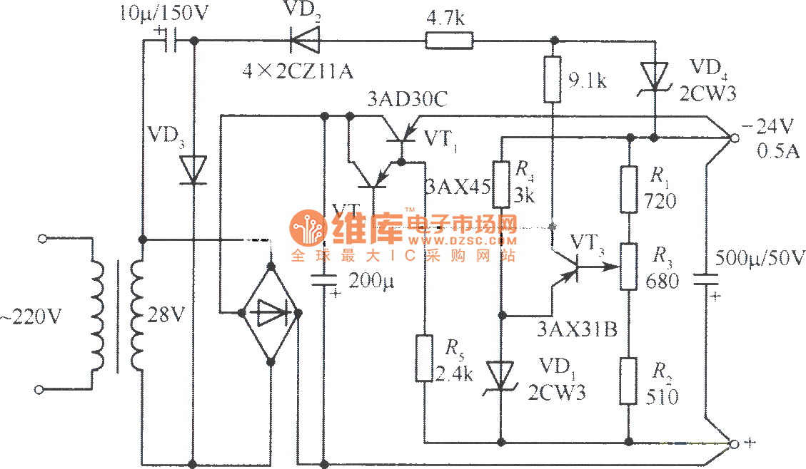 power supply  regulated power supply circuit