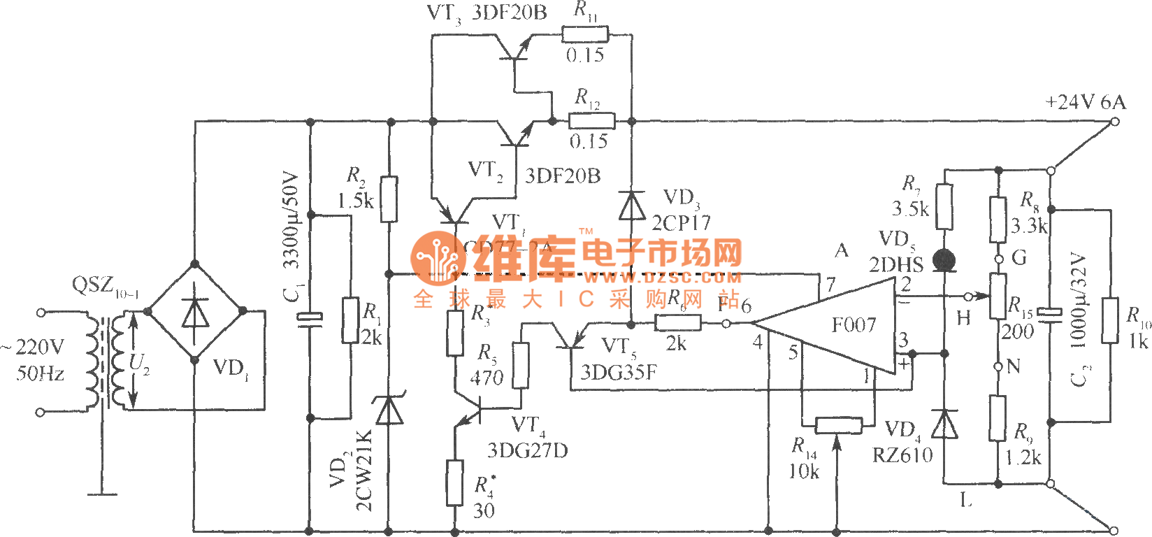 Beaufiful 24v Power Supply Circuit Diagram Pictures Hobby Dc Using Lm7824 Ic 6a Low Consumption Regulated