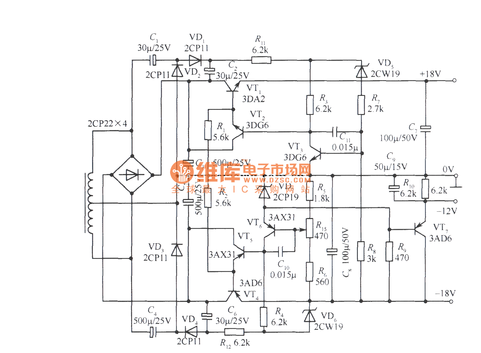 18v bipolar regulated voltage power supply circuit With 00 authorlynne keyword hardware circuit ultrasonic range finder