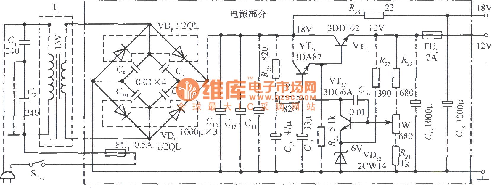 18v power supply schematic  18v  free engine image for