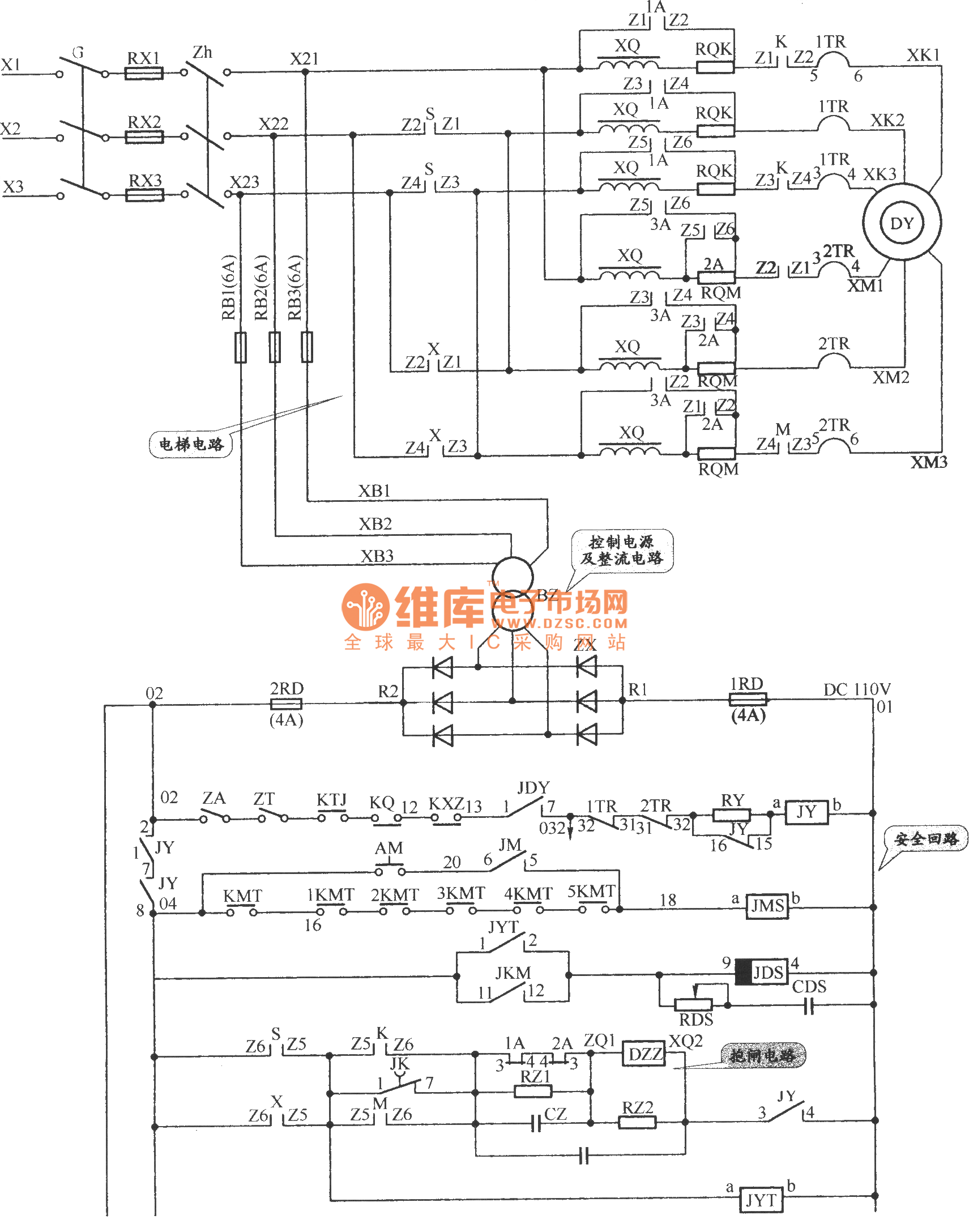 Apm 81 The Main Circuit Of Elevator Safety Loop And Dlectrical Index 104 Power Supply Diagram Seekiccom