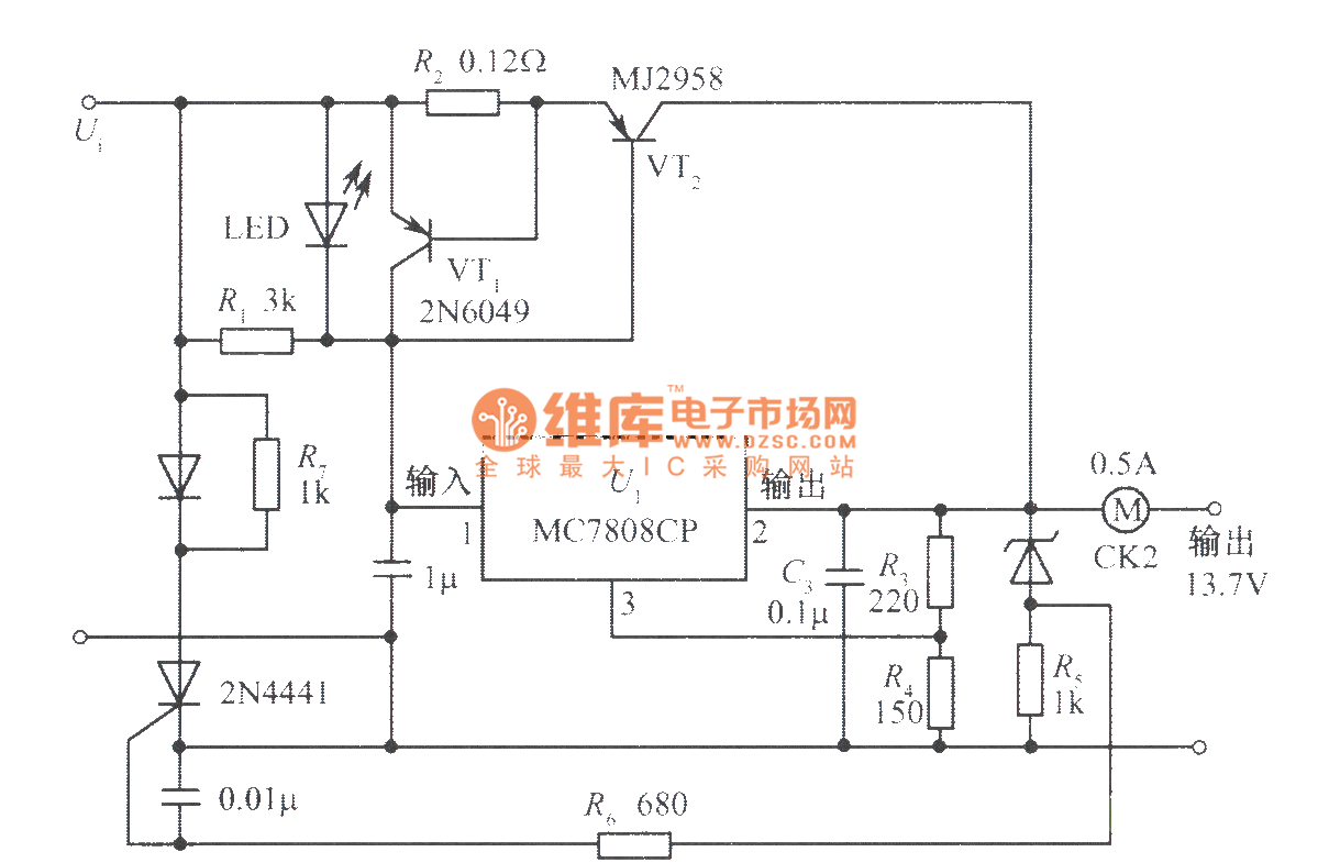 low-cost power supply with a variety of protection