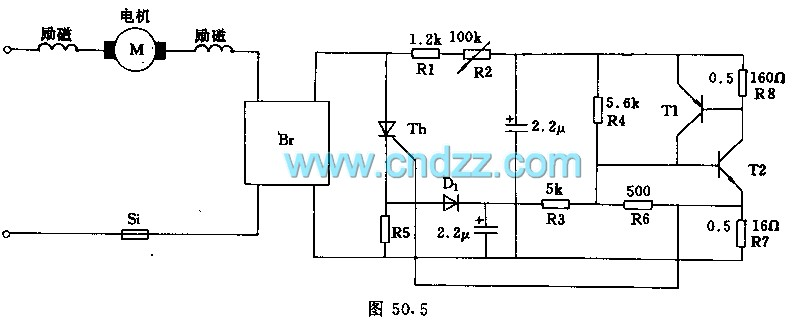 series motor full-wave control circuit