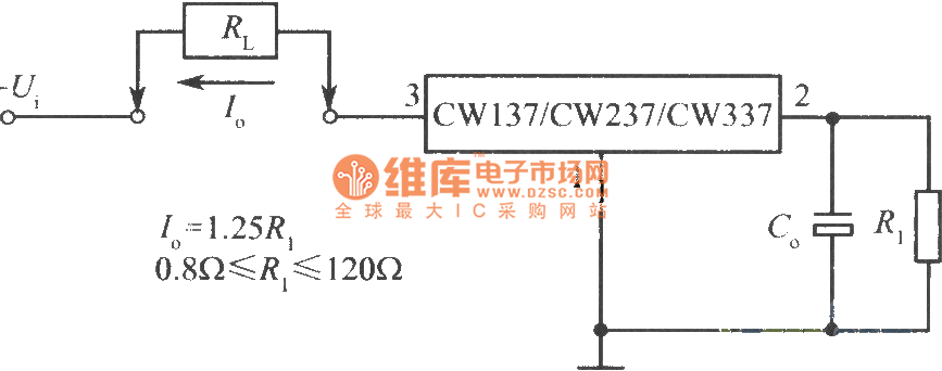 constant current source circuit with cw137 - power supply circuit - circuit diagram