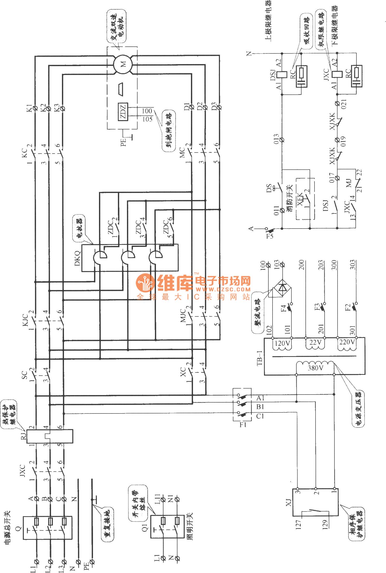 Shenyang Sanyo Ac Double Speed Elevator Main Circuit
