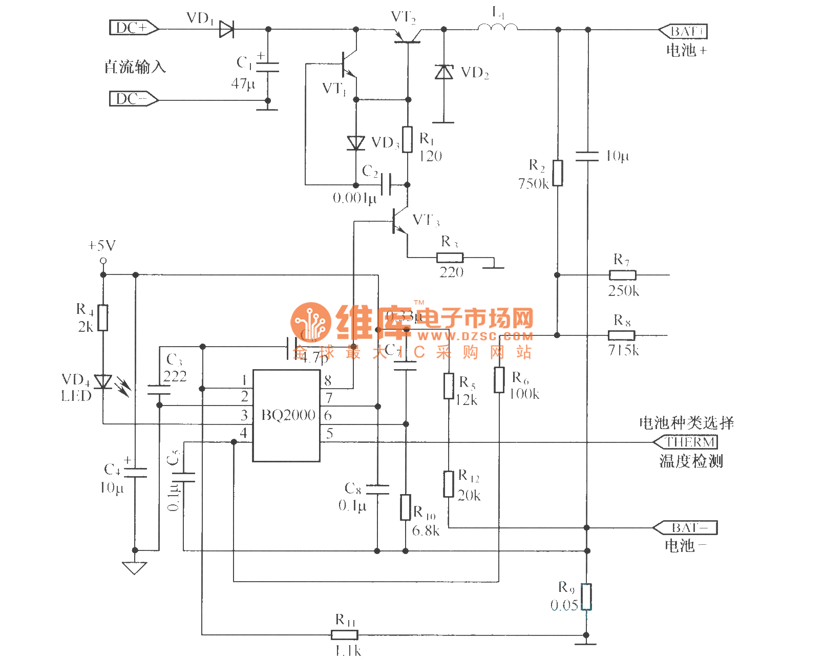 The Changer Circuit Composed Of Bq2000 Power Supply Current Detection Controlcircuit Diagram Seekic