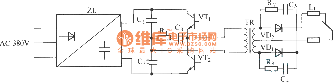 ZX7—315 type arc welding power supply fundamental diagram ... on