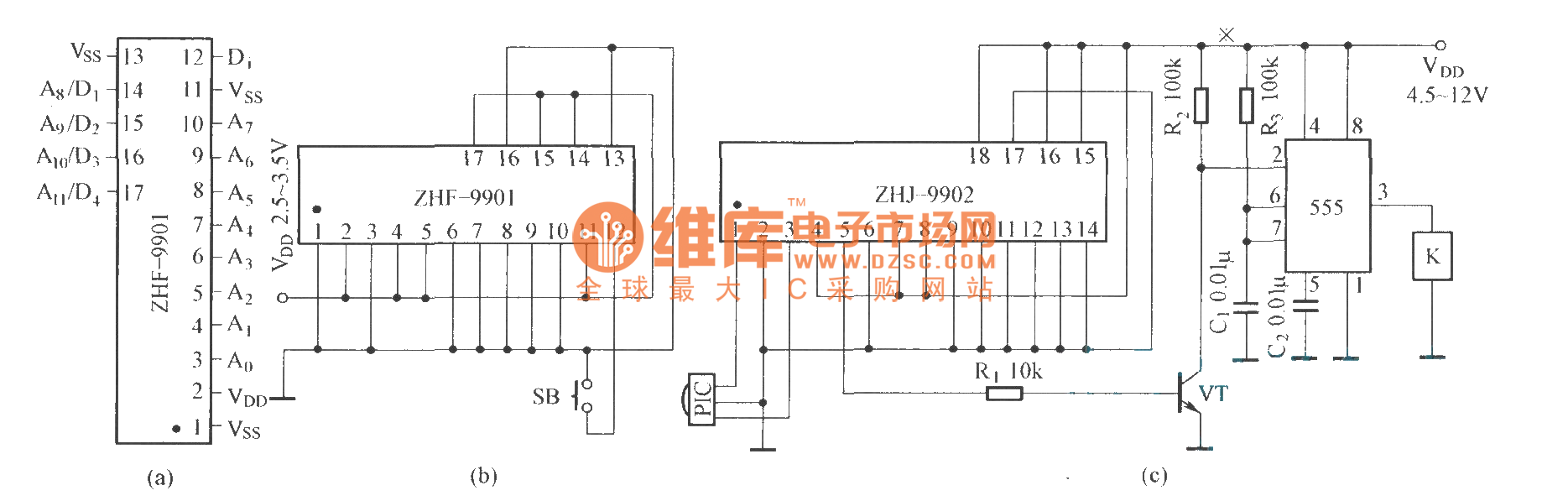 The Circuit Diagram Composed Of Zhf 9901 And Zhj 9902 Index 5 555 Seekiccom