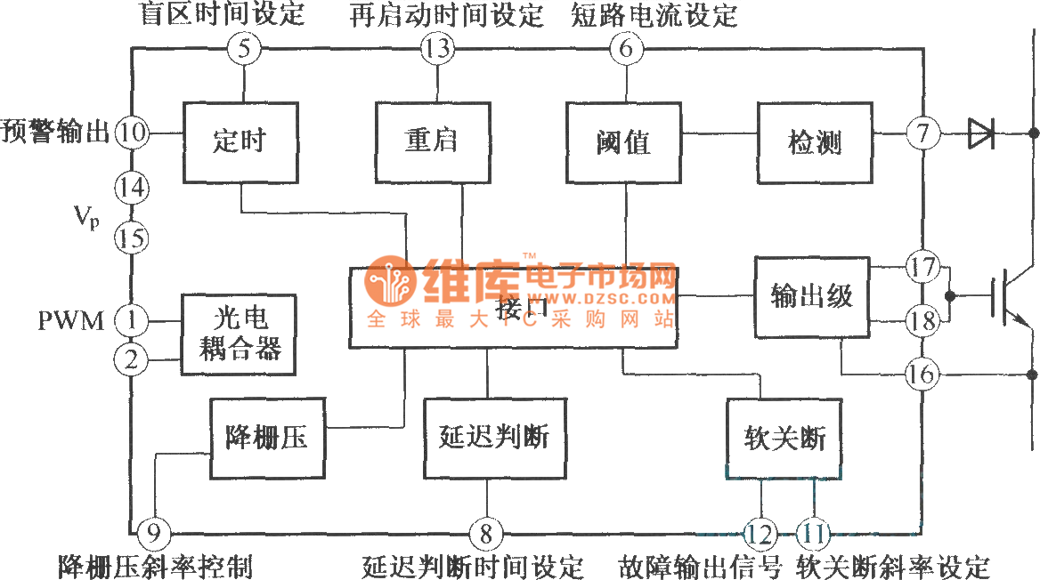 driver with integrated circuit tlp250 basiccircuit circuit