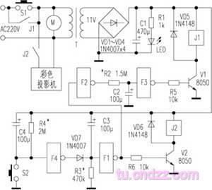 colour tv power supply controller circuit