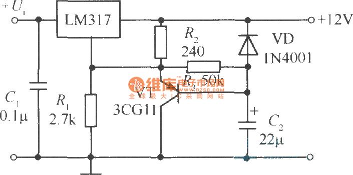 power soft-start circuit adopts capacitor