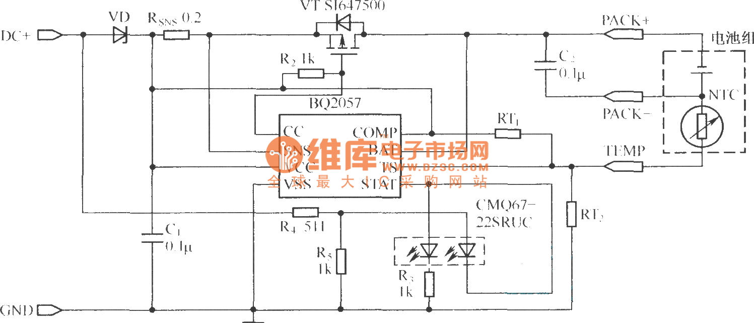 Bq2057 Charger Circuit Using P Channel Mosfet Powersupplycircuit
