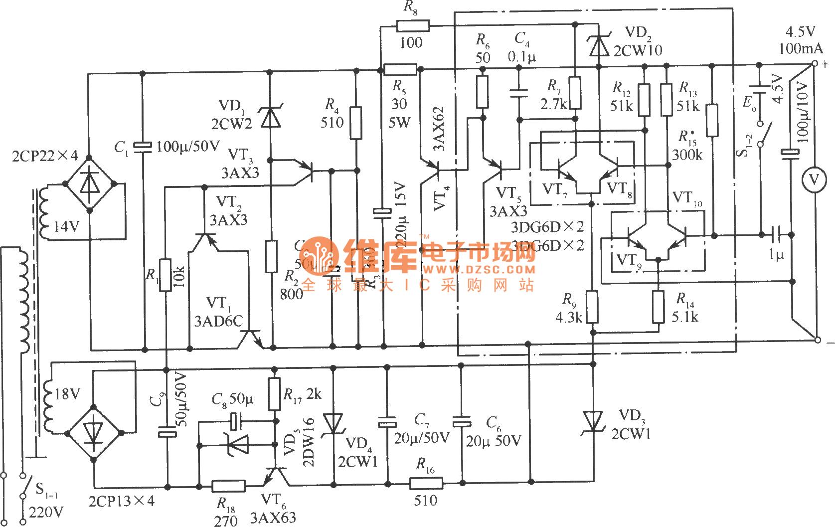 4 5v precise power supply circuit - power supply circuit - circuit diagram