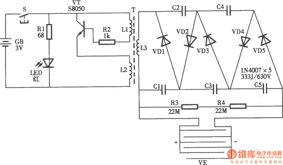 Ming Xie Electronic Swatter Circuit
